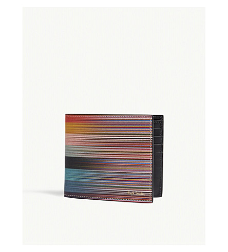 PAUL SMITH ACCESSORIES Artist stripe leather wallet (Multi