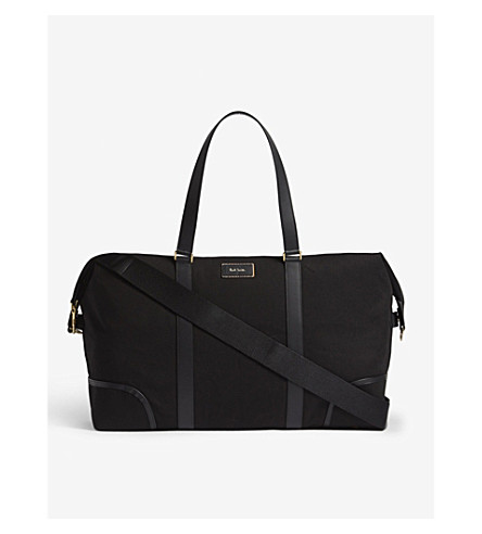PAUL SMITH ACCESSORIES City Travely canvas holdall (Black