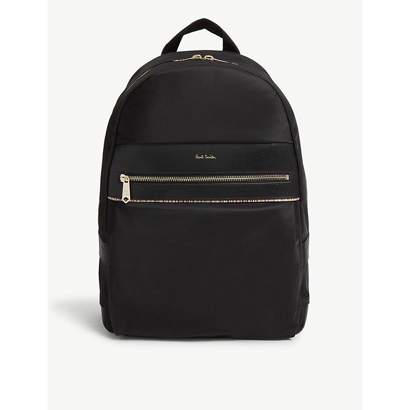 PAUL SMITH | Striped Nylon Backpack | Goxip