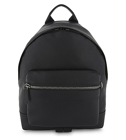 SALVATORE FERRAGAMO Ganico Trott leather backpack (Black