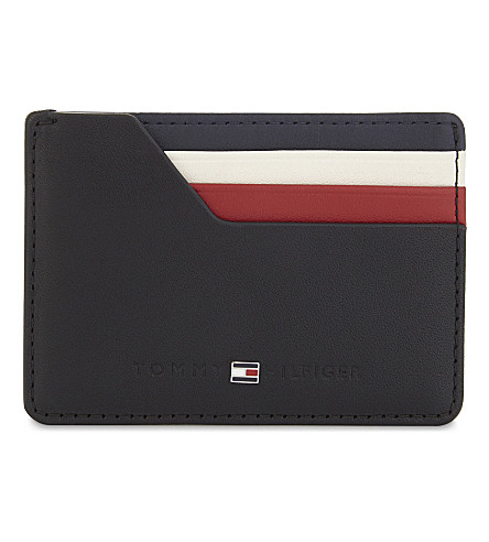TOMMY HILFIGER Leather card holder (Black