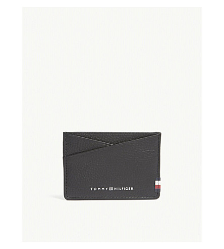 TOMMY HILFIGER CC leather card holder (Black