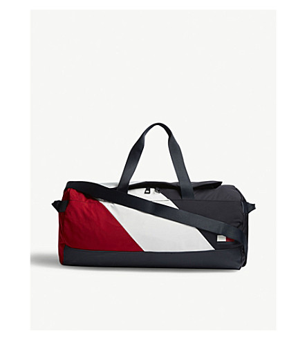 TOMMY HILFIGER Striped duffle bag (Blue+wht+red