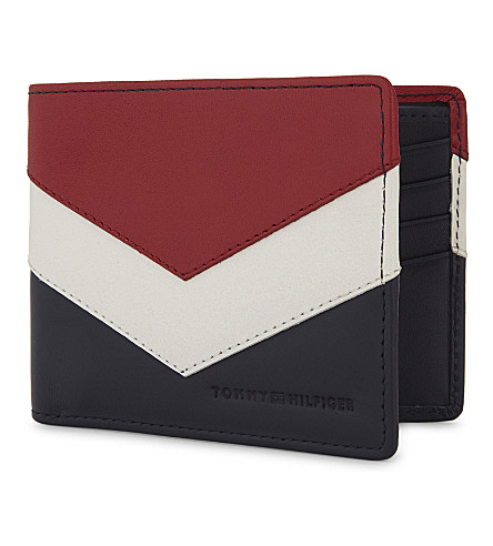 TOMMY HILFIGER Chevron mini leather wallet (Corporate
