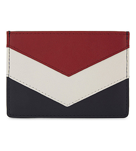 TOMMY HILFIGER Chevron leather card holder (Corporate