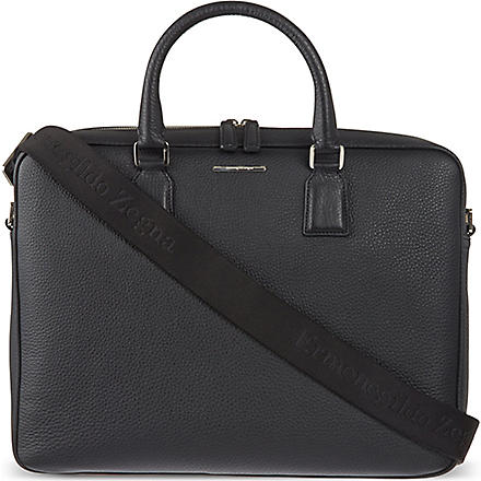 ZEGNA Hampton leather briefcase (Black