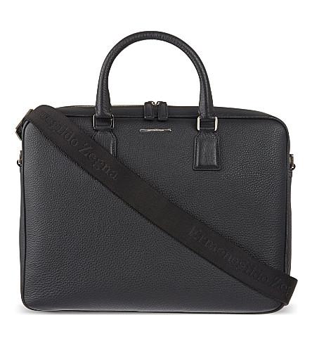 ZEGNA Hampton leather briefcase (Black