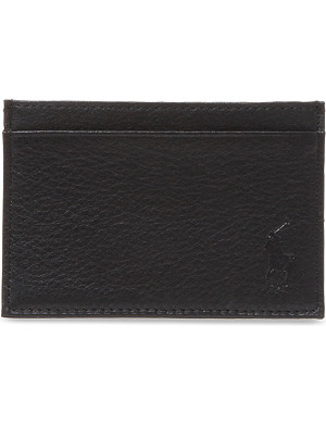 RALPH LAUREN ACCESSORIES Pony-embossed leather card case