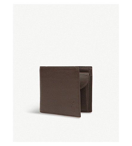 POLO RALPH LAUREN Pebbled leather wallet (Brown
