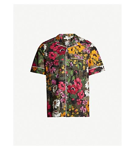 VALENTINO Floral-print cotton shirt (Multi