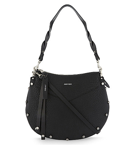 JIMMY CHOO Artie nappa-leather shoulder bag (Black