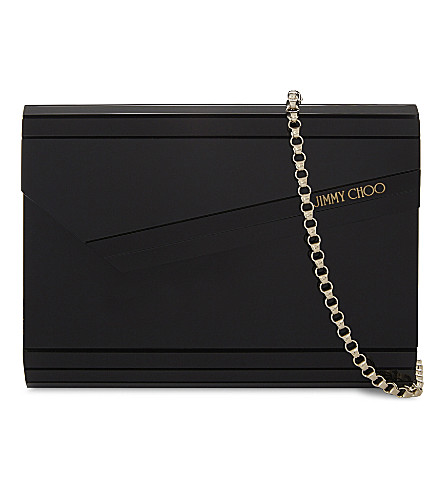 JIMMY CHOO Candy acrylic clutch (Black