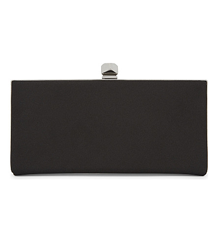 JIMMY CHOO Celeste satin clutch (Black