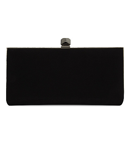 JIMMY CHOO Celeste suede clutch (Black