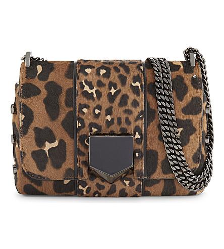 JIMMY CHOO Lockett Petite pony hair shoulder bag (Leopard