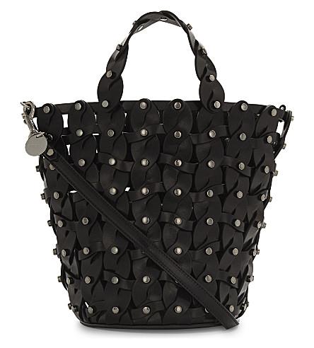 JIMMY CHOO Maxine leather bucket bag (Black