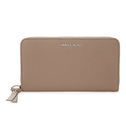 JIMMY CHOO Pippa leather wallet (Ballet+pink