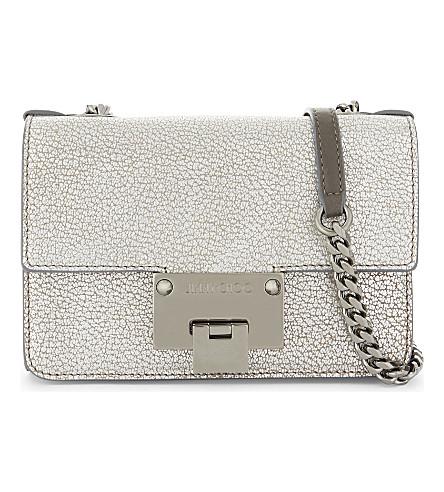 JIMMY CHOO Rebel soft metallic mini bag (Platinum
