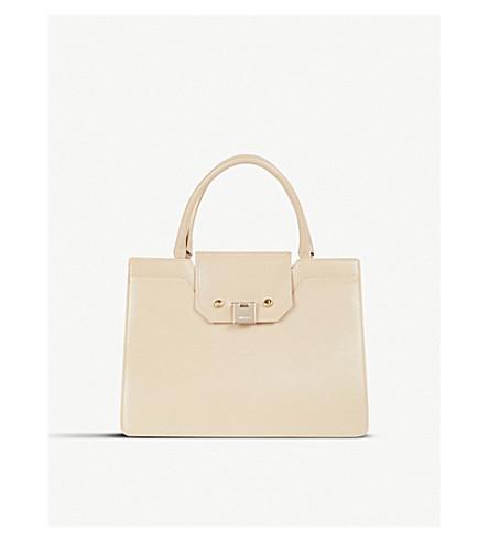 JIMMY CHOO Rebel large leather tote bag (Chai