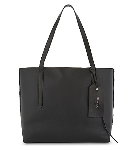 JIMMY CHOO Twist East West leather tote (Black