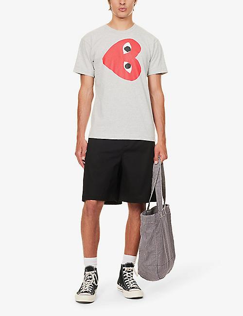 COMME DES GARCONS PLAY Logo-print cotton-jersey T-shirt