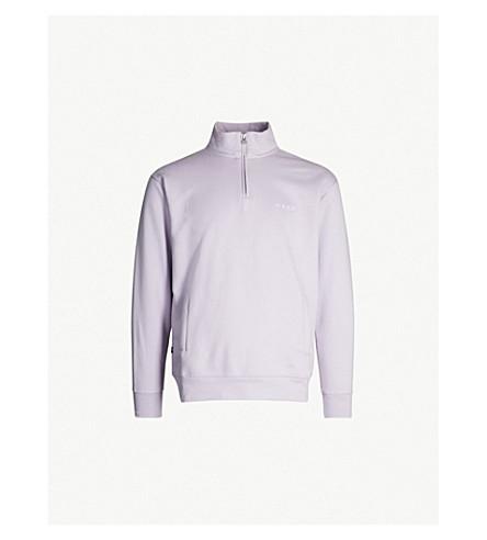 OBEY Funnel-neck cotton-blend sweatshirt (Lilac
