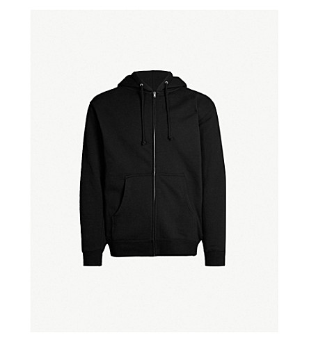 OBEY New World 3 logo-print cotton-blend hoody (Black