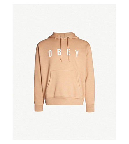OBEY Anyway cotton-blend hoody (Light mauve