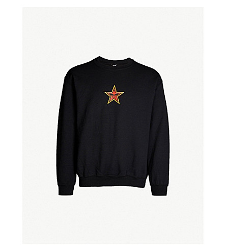 OBEY Star Face cotton-jersey top (Black