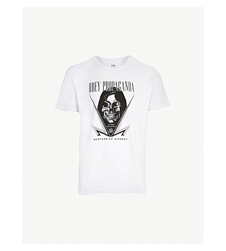 OBEY Masters of Dissent cotton-jersey T-shirt (White