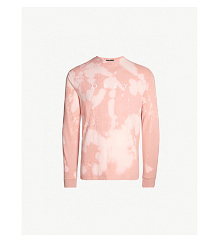 OBEY Desire cotton-jersey top (Rose