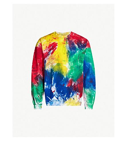 TIGRAN AVETISYAN Paint-print cotton-blend sweatshirt (Multi