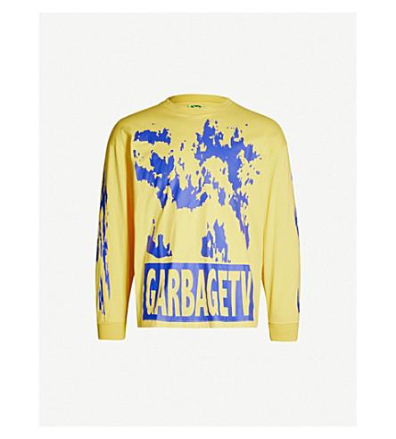 GARBAGE TV Roberts Dream graphic-print cotton-jersey T-shirt (Yellow