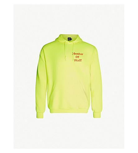 SAINT LONDON Staff logo-print cotton-jersey hoody (Neon+green