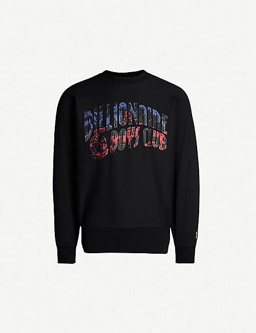 BILLIONAIRE BOYS CLUB Horsepower logo cotton-jersey sweatshirt 38e8bb48fe8