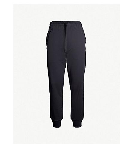 Y3 Logo-print cotton-jersey track pants (Dark grey