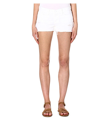 J BRAND Vixen cut-off denim shorts (White