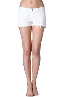 J BRAND 1046 dot eyelet denim shorts