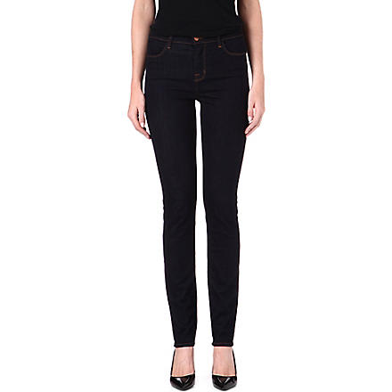 J BRAND 2112 Photo Ready slim-straight high-rise jeans (Starless