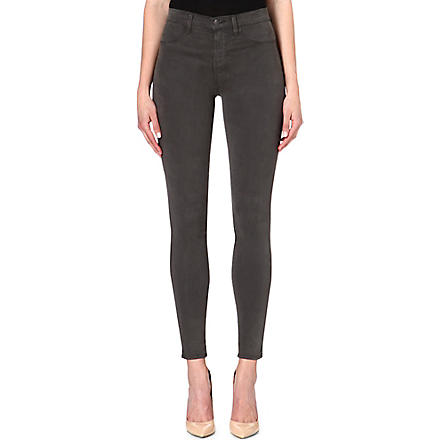 J BRAND 23110 Maria sateen skinny high-rise jeans (Armour