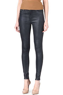 J BRAND Maria coated skinny high-rise jeans