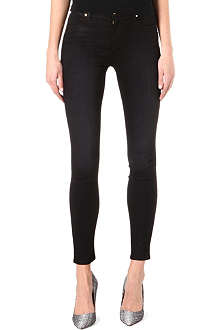 J BRAND The Little Black Jean Maria coated skinny high-rise jeans