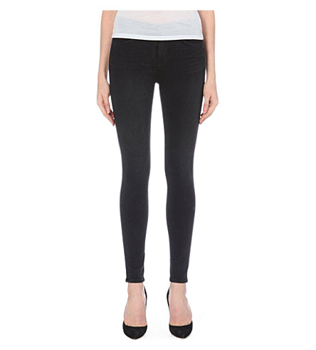 J BRAND Maria high-rise skinny jeans (Graphite
