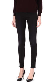 J BRAND The Little Black Jean 620 coated super-skinny mid-rise jeans