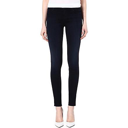 J BRAND Midrise super skinny jeans (Darkness