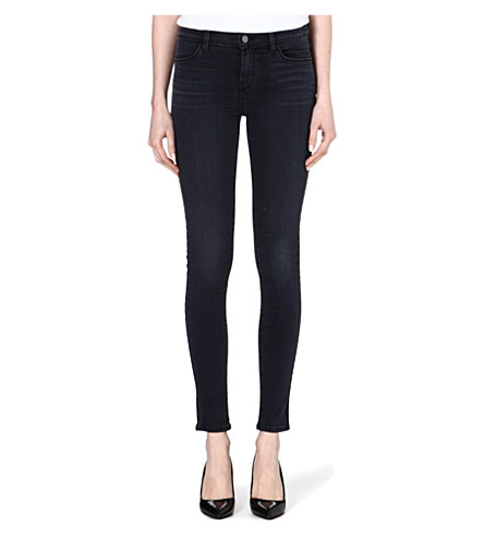 J BRAND The Little Black Jean 620 coated skinny mid-rise jeans (Mystery