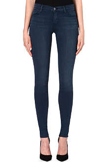 J BRAND 624 Stacked super-skinny mid-rise jeans