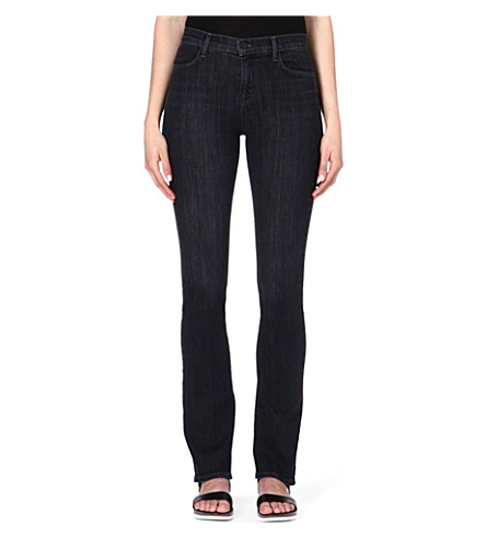 J BRAND Remy slim-fit bootcut high-rise jeans (Silence