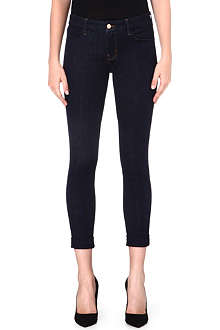 J BRAND Anja skinny cuffed crop jeans