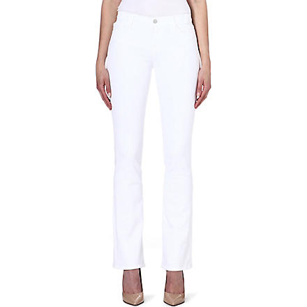 J BRAND 8117 Brooke bootcut high-rise jeans (Blanc
